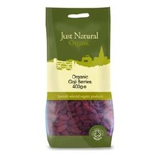 Just Natural Organic Org Goji Berries 400g
