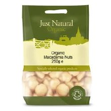 Just Natural Organic Org Macadamia Nuts 250g