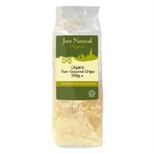 Just Natural Organic Org Coconut Chips Raw 250g
