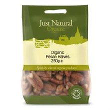 Just Natural Organic Org Pecan Halves 250g