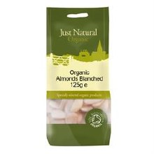Just Natural Organic Org Almonds Blanched 125g