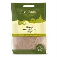 Just Natural Organic Org Almonds Ground 220g