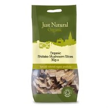 Just Natural Organic Org Shiitake Mushrooms 30g