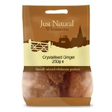 Just Natural Wholesome Crystallised Ginger 250g