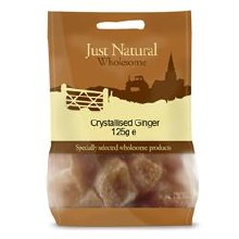 Just Natural Wholesome Crystallised Ginger 125g
