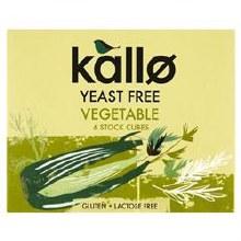Kallo Vegetable Stock Cubes Y Free 60g