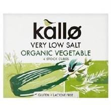 Kallo Low Salt Vegetable Stock Cubes 66g