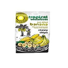 Tropical Wholefoods FT Organic Banana Chewy Chips 150g