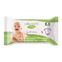 Organyc Baby Wipes 60