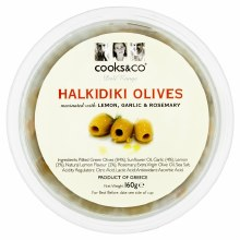 Cooks & Co Cooks & Co Olives Garlic/rose 160g