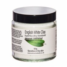 Amour natural English white clay 80g