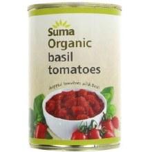 Suma Suma Chopped Toms With Basil 400g