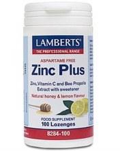 LAMBERTS ZINC PLUS LOZENGES 100