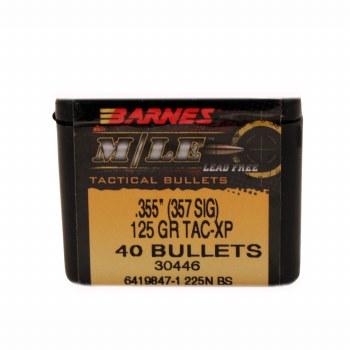 .355 (357 SIG) Caliber  125 Grain Barnes #30446