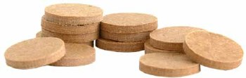 .455 .062 Thick Card Vegetable Fiber - Circle Fly Wad