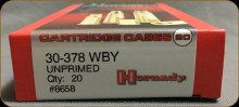 30-378 Wby. Mag. Hornady Cases 20/bx