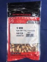 Winchester 9mm 124gr FMJ-FB-MC