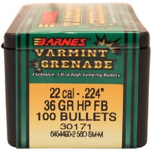 .22 Caliber   36 Grain VG Barnes #30189