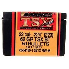 .22 Caliber   62 Grain TSX Barnes #30190