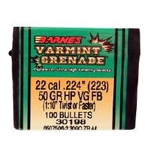 .22 Caliber   50 Grain VG Barnes #30198