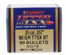.25 Caliber    80 Grain TTSX Barnes #30218