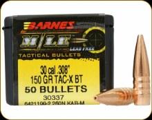 .30 Caliber  150 Grain TAC-X Barnes #30337
