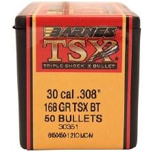 .30 Caliber 168 Grain TSX Barnes #3035