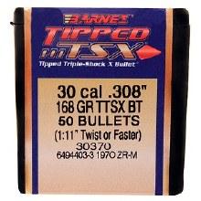 .30 Caliber  168 Grain TTSX Barnes #30370