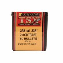 .338 Caliber  210 Grain TSX Barnes #30410