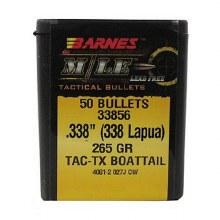 .338 Caliber  265 Grain M/LE Barnes #30419