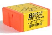 Berger 6mm 115gr Bullets