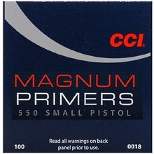 #550 Small Pistol Magnum CCI Primers