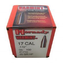.17 Caliber 25gr HP Hornday # 10208