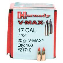.17 Caliber 20gr VM Hornady #21710 100/bx