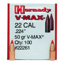 .22 Caliber 50gr VM Hornady #22261 100/bx