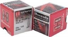 .22 Caliber 52gr ELDM Hornady #22491 100/bx