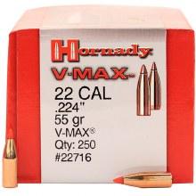 .22 Caliber 55gr VMX Hornady #22716 250/bx