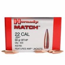 .22 Caliber 68gr BTHP Hornady #22785 500/bx