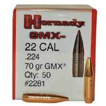 .22 Caliber 70gr GMX Hornady #2281 50/bx