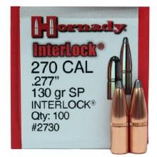 .270 Caliber 130gr SP Hornady #2730 100/bx
