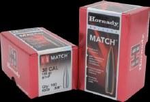 .30 Caliber 155gr BTHP Hornady #3039 100/bx