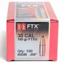 .30 Caliber 160gr FTX Hornady #30395 100/bx