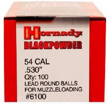 Hornady #6100 .530 Rd. Ball 100/bx
