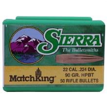 .22 Caliber   90gr HPBT  Sierra #1490