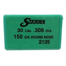 .30 Caliber    150gr RN Sierra #2135