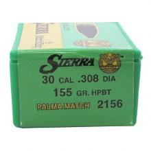 .30  Caliber  155gr HPBT Sierra #2156C