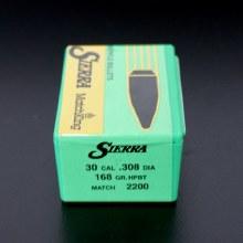 .30 Caliber    168gr HPBT Sierra #2200