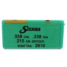 .338  Caliber  215gr BT Sierra #2610