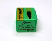 .22  Caliber   77gr HPBT Sierra #9377T