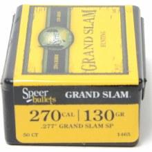 270 Caliber 130gr SPGS Speer #1465 50/bx